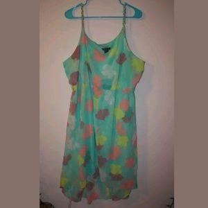 Lane Bryant summer dress floral plus size 22/24  L